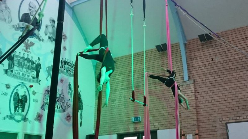 Duo Aerial Silks at Freefall
