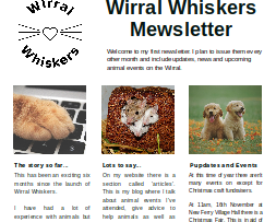 Wirral Whiskers Newsletter